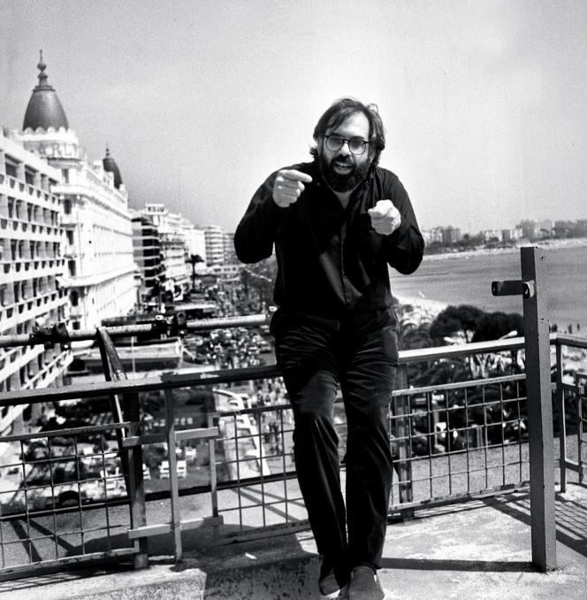 Francis Ford Coppola presente son film « Apocalypse Now » le 21 mai 1979 au Festival de Cannes.