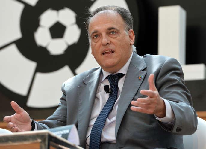 Javier Tebas, président de la Ligue espagnole, à Singapour, en 2017.