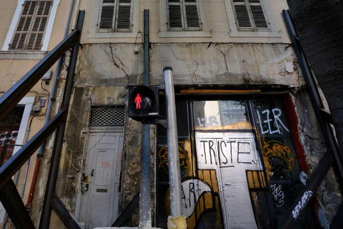 Immeuble insalubre rue d'Aubagne, à Marseille, le 5 mai.