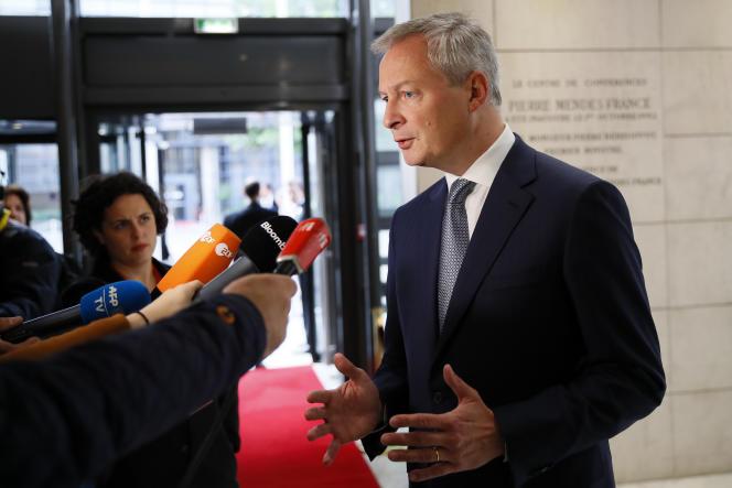 Le gouvernement veillera à ce que« les intérêts français soient bien représentés », a affirmé, mardi 28 mai, le ministre de l'économie,Bruno Le Maire. Ici, à Bercy, le 7 mai 2019.
