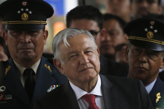Le président mexicain, Andres Manuel Lopez Obrador, à Santa Lucia, en périphérie de Mexico, le 7 mai.