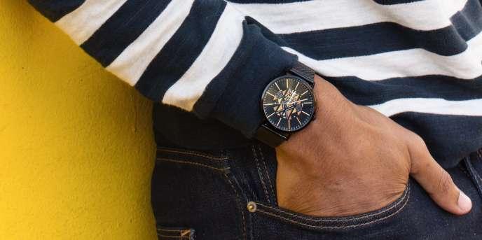 Une montre de la marque sénégalaise Mathydy, conçue et assemblée à Dakar.