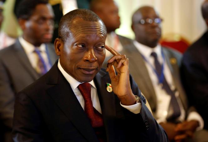 Le président béninois, Patrice Talon, à Abidjan, en Côte d'Ivoire, le 10avril 2017.