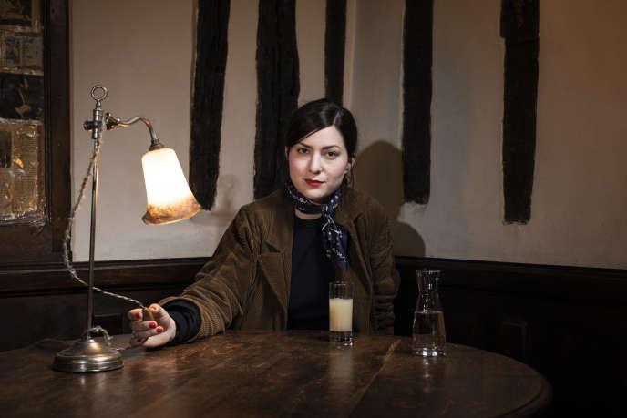 La réalisatrice Rebecca Zlotowski au café La Méthode, à Paris, le 2 mai.