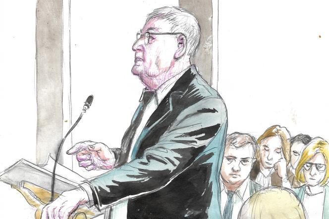 L'ex-PDG de France Télécom Didier Lombard témoigne au palais de justice de Paris, le 6 mai.