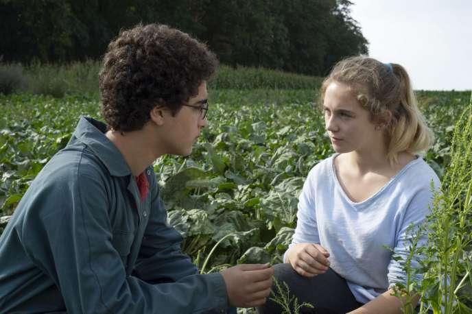 Idir Ben Addi et Victoria Bluck, dans« Le Jeune Ahmed», des frères Dardenne.