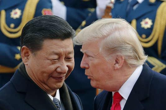MM. Xi et Trump, à Pékin, en novembre2018.