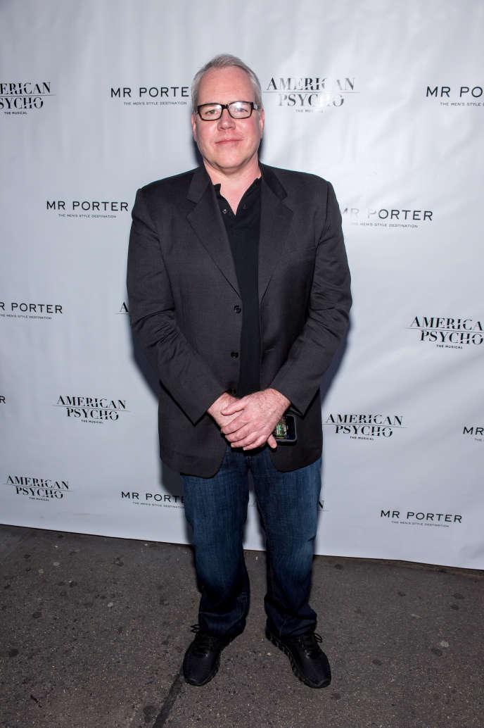Bret Easton Ellis en avril 2016 à New York lors de la première d'« American Psycho» àBroadway.
