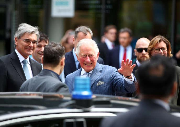Le prince Charles, premier dans l'ordre de succession de la couronne britannique, le9mai, à Munich.