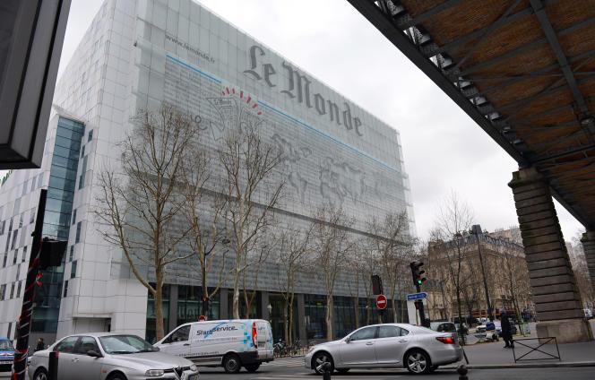 Les locaux du journal« Le Monde», à Paris, en 2013.