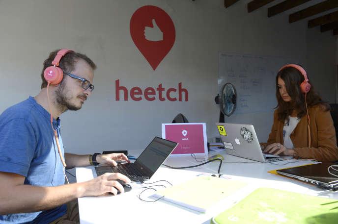 Des employés de Heetch, à Paris, en septembre 2015.