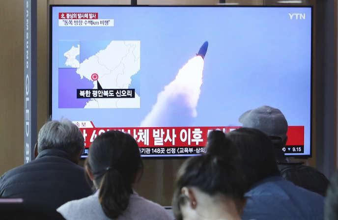 Samedi 4 mai, la Corée du Nord avait déjà procédé à des tirs de « projectiles ».