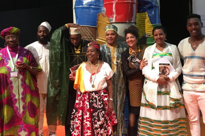 Les membres du Collectif africain en Suisse, au Salon du livre de Genève, le 5mai 2019.