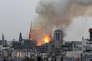 L'incendie de la cathédrale Notre-Dame, à Paris, le 15 avril.