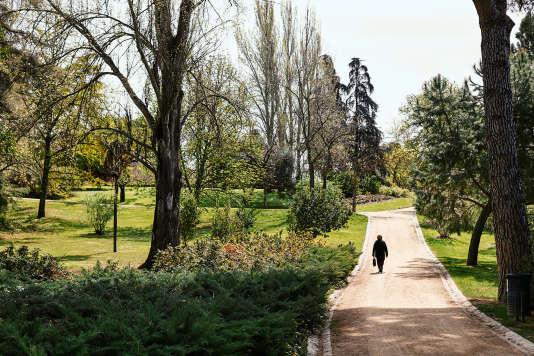 Parque del Oeste à Madrid.