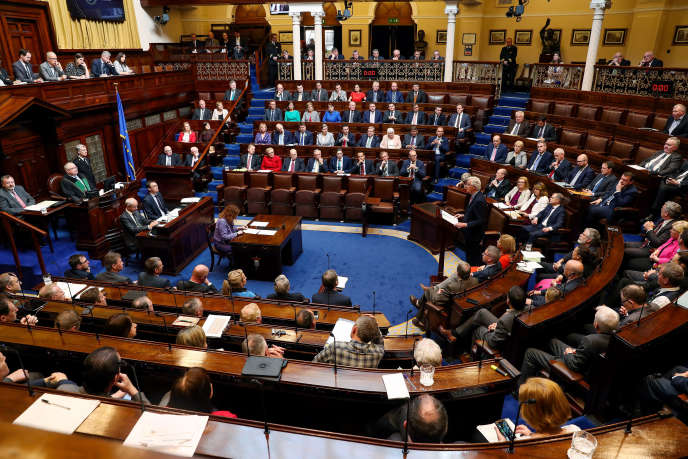 Le « Dail Eireann », chambre basse du Parlement irlandais, à Dublin.