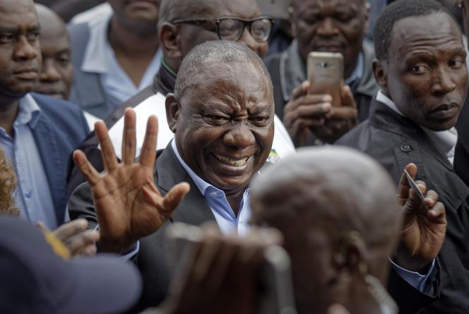 Le président sud-africain, Cyril Ramaphosa, le 8 mai à Johannesburg.