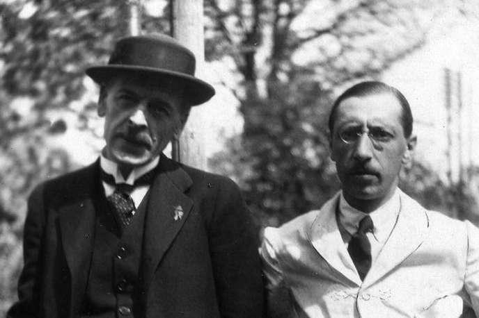 Les compositeurs Igor Stravinsky (droite) et Charles Ferdinand Ramuzen 1918.