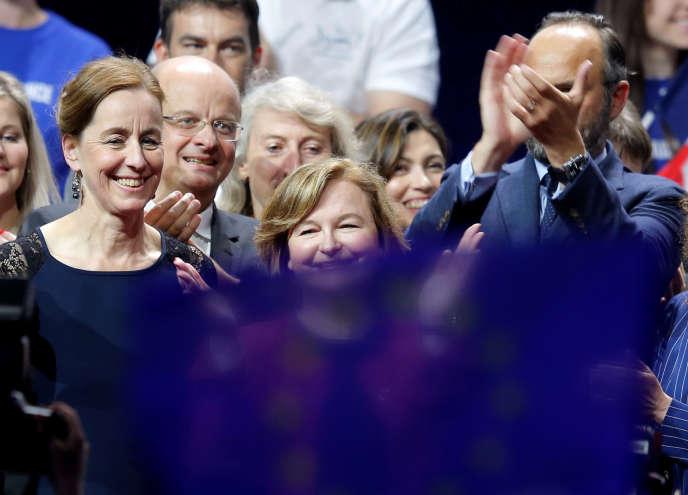 Fabienne Keller, candidate aux européennes, et Nathalie Loiseau, à Strasbourg, le 11mai.