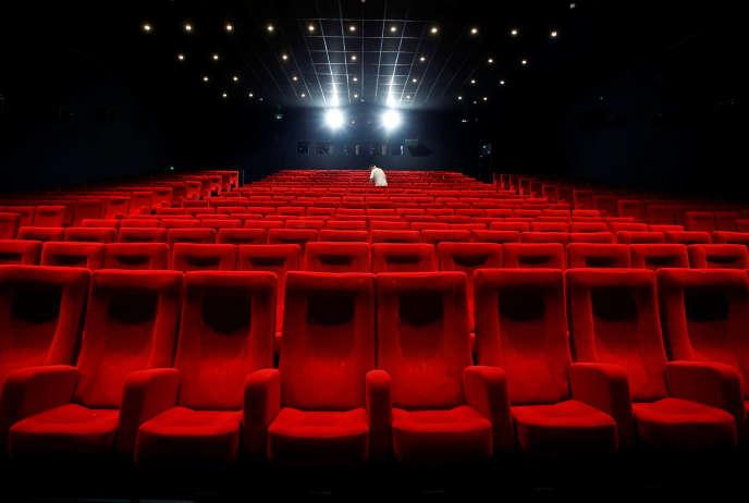 Préparatifs du 72e Festival de Cannes, le 12 mai.