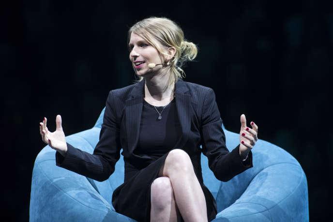 Chelsea Manning, lors de la conférence C2 à Montréal, le 24 mai 2018.