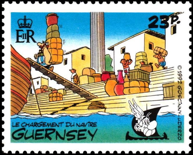 Un des cinq timbres émis par Guernesey en 1992.
