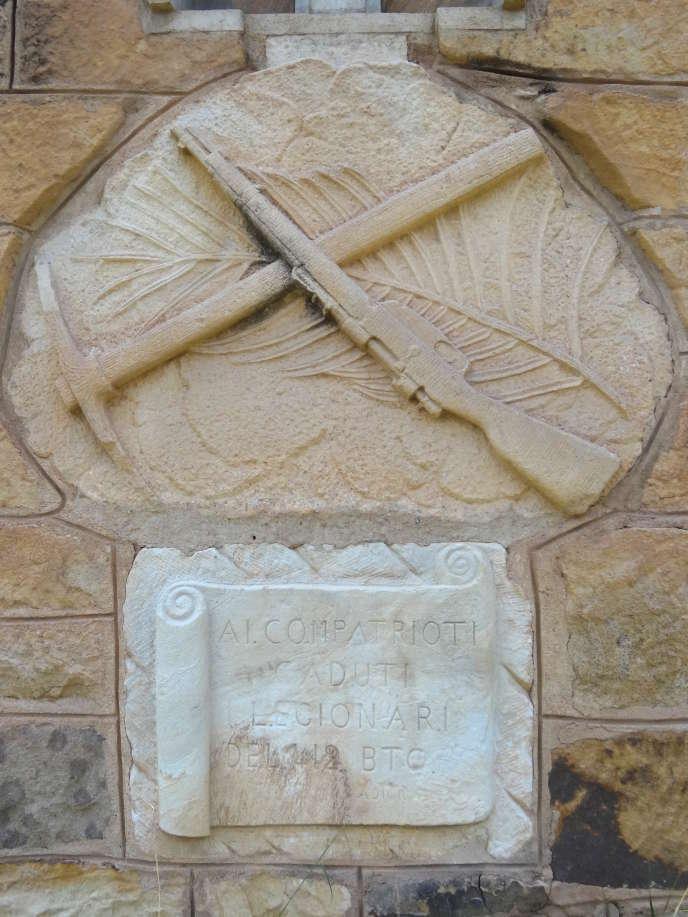 Monument aux morts au combat dans le cimetière italien d'Adigrat, en Ethiopie.