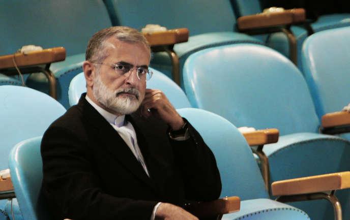 Kamal Kharrazi à New York en 2005, alors qu'il occupait la fonction de ministre des affaires étrangères.