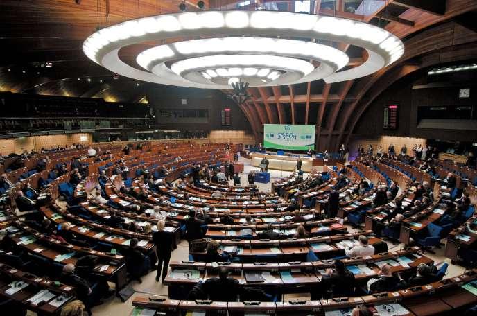 Séance plénière du Conseil de l'Europe à Strasbourg.