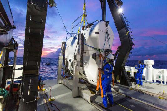 Le sous-marin «DSV-Limiting-Factor» réalisera la dernière plongée du programme de Victor Vescovo en septembre, au point le plus profond de l'océan Arctique.