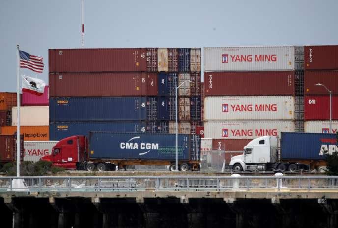 Dans le port d'Oakland (Californie), le 13 mai.