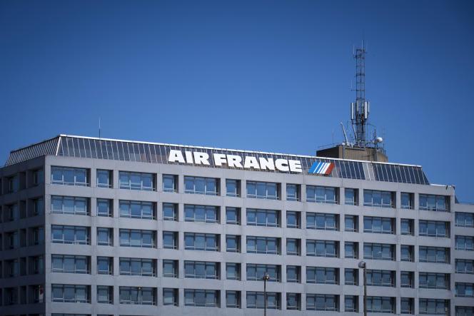 Le siège d'Air France-KLM, à l'aéroport Roissy-Charles de Gaulle, près de Paris, en août 2018.