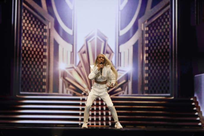 Bilal Hassani lors d'une répétition en amont du concours de l'Eurovision, à Tel Aviv (Israël), le 13 mai.