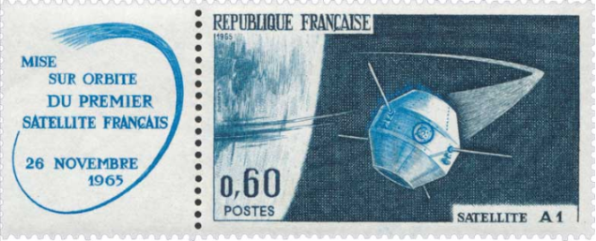 Le premier satellite français, A 1, dont le nom est inspiré du nom du célèbre guerrier gaulois.