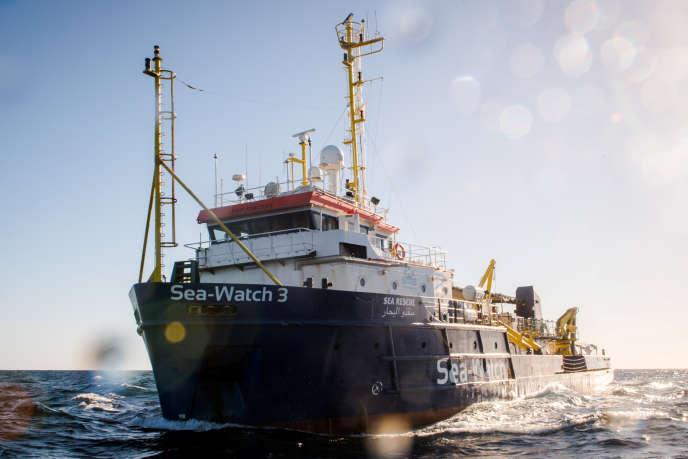 Le navire «Sea-Watch 3», près de la côté libyenne le 19 décembre 2018.