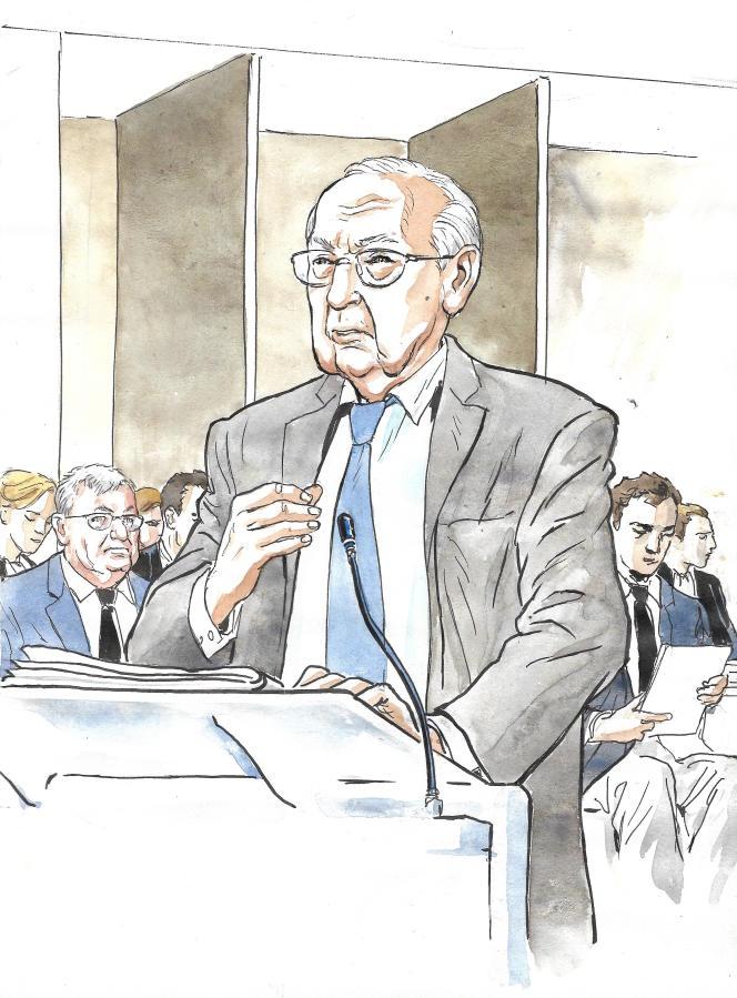 Jacques de Larosière, ancien patron du FMI, le 14 mai au tribunal correctionnel de Paris.