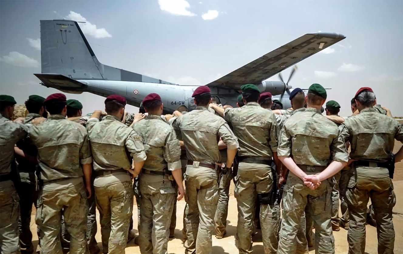 Os soldados da operación Barkhane, nun vídeo emitido polos franceses Exército o 13 de maio.
