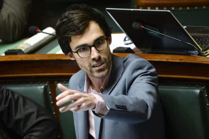 Kristof Calvo, député d'Anvers et potentiel premier ministre en cas de victoire des écologistes aux législatives, ici en 2015 à la Chambre.