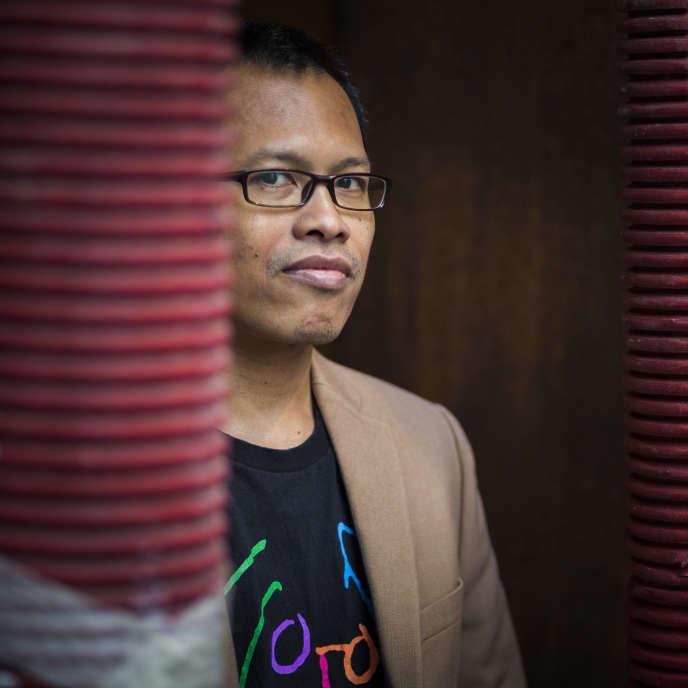 L'écrivain indonésien Eka Kurniawan, à Paris, en 2015.