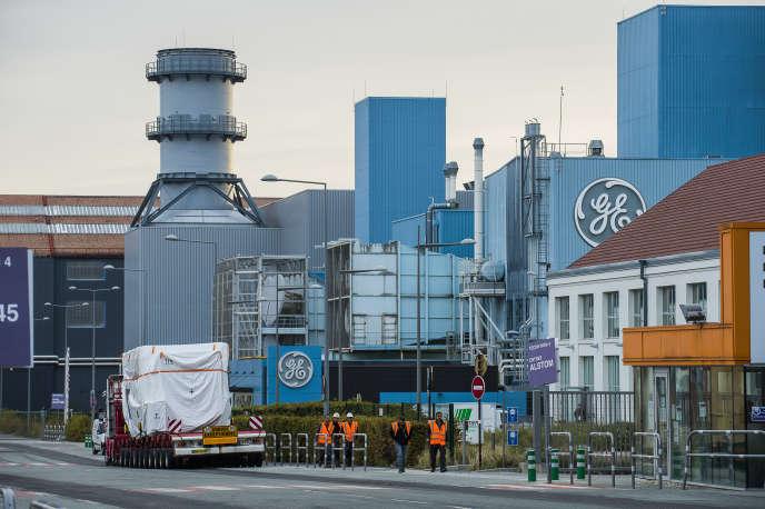 À l'entrée de l'usine General Electric (GE) de Belfort, en octobre 2018.