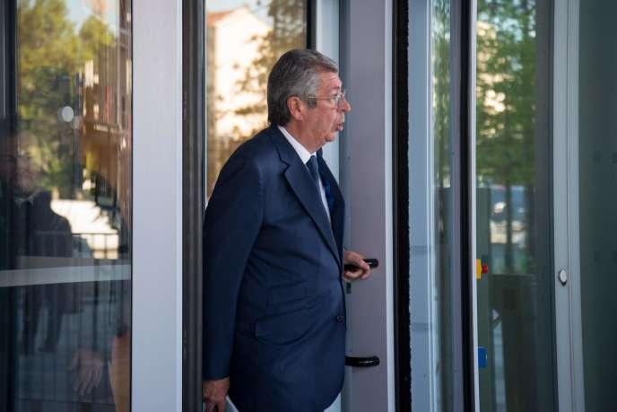 The mayor of Levallois-Perret (Hauts-de-Seine), Patrick Balkany, leaves court Paris, May 13.