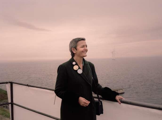 La commissaire à la concurrence, Margrethe Vestager, le 10 mai, à Copenhague.