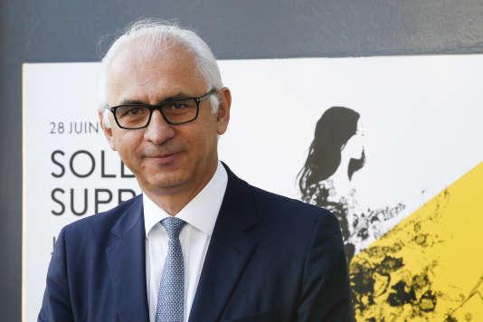 Le président du Printemps, Paolo de Cesare, lors des soldes d'été, à Paris, le 28 juin 2017.