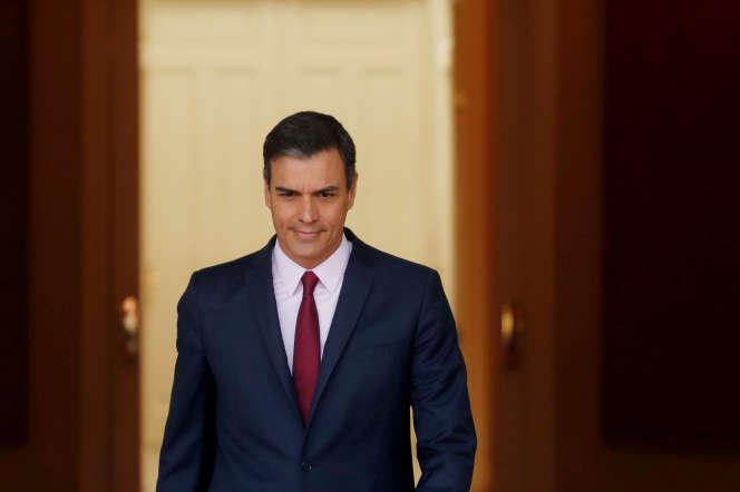 Le premier ministre espagnol, Pedro Sanchez, à Madrid, le 7 mai.