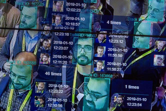 Démonstration d'un logiciel de reconnaissance faciale, à San Francisco, en mai 2019.