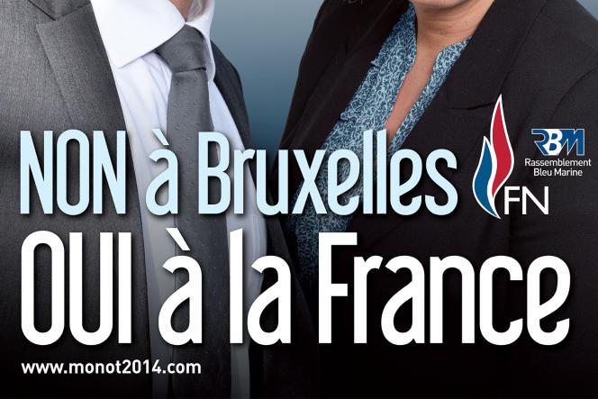 Avec l'arrivée de Marine Le Pen à la tête du FN, le parti opte pour une dénonciation offensive de l'Union européenne. En 2014, le slogan des frontistes était «Non à Bruxelles, oui à la France».
