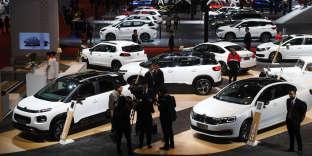 Des voitures Citroën au Salon automobile de Shanghaï, le 17 avril. La Chine est désormais, pour la firme, six fois plus petite que l'Hexagone.