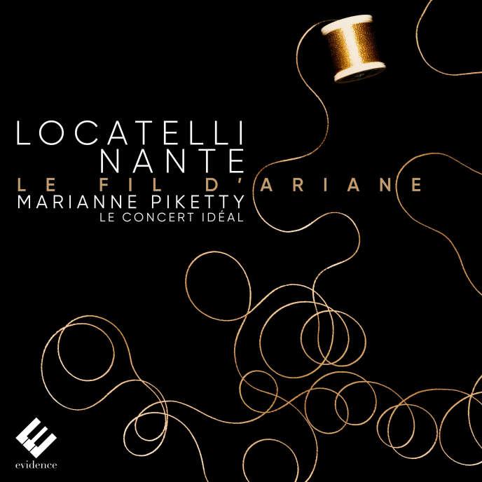 Pochette de l'album «Fil d'Ariane», deMarianne Piketty entre Pietro Antonio Locatelli.