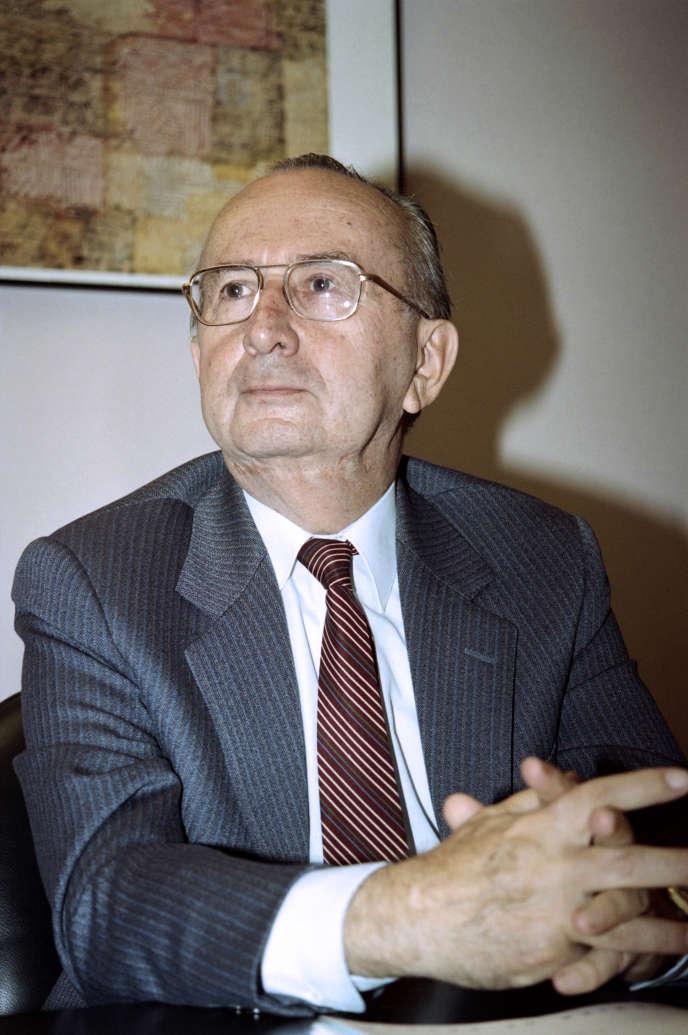 Jean Sérisé, le 8 août 1993, à Paris.