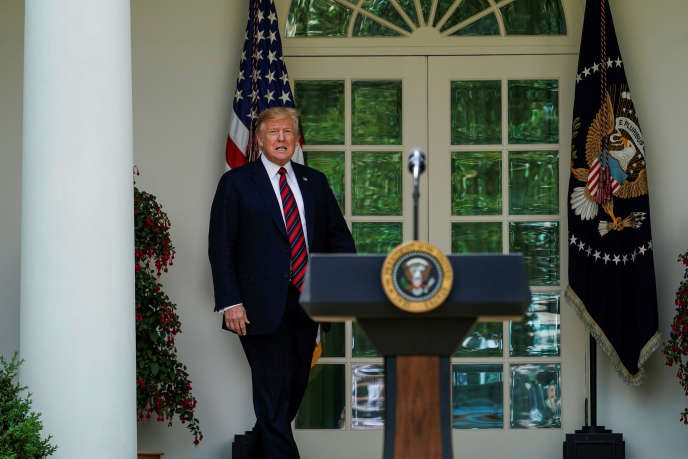 Le président Donald Trump avant son discours sur la réforme de l'immigration à la Maison Blanche (Washington), aux Etats-Unis, le 16mai2019.